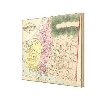 Map of Charleston, West Virginia Canvas Print