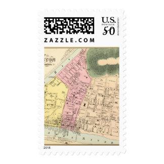 Map of Charleston, West Virginia Postage