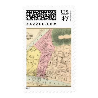 Map of Charleston, West Virginia Postage Stamp