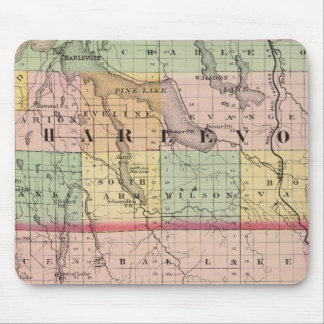 Map of Charlevoix and Antrim counties, Michigan Mouse Pad