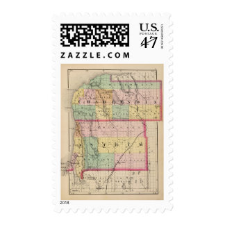 Map of Charlevoix and Antrim counties, Michigan Postage Stamp
