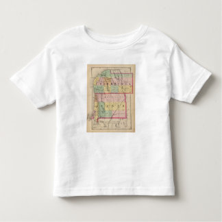Map of Charlevoix and Antrim counties, Michigan Toddler T-shirt