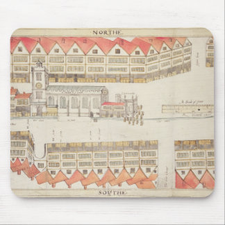 Map of Cheapside, London, 1585 Mouse Pad