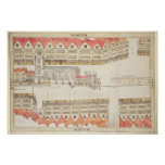 Map of Cheapside, London, 1585 Poster