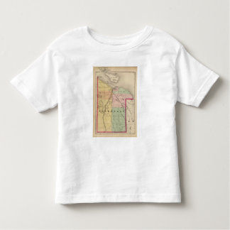 Map of Cheboygan County, Michigan Toddler T-shirt