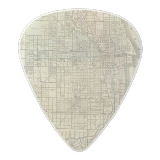Map Of Chicago Acetal Guitar Pick