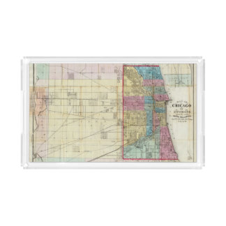 Map of Chicago Acrylic Tray
