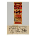 Map Of Chicago and Northwestern Railway Lines Poster