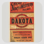 Map Of Chicago and Northwestern Railway Lines Sticker