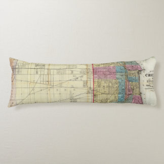 Map of Chicago Body Pillow