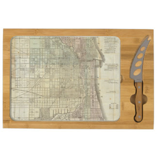 Map Of Chicago Cheese Platter