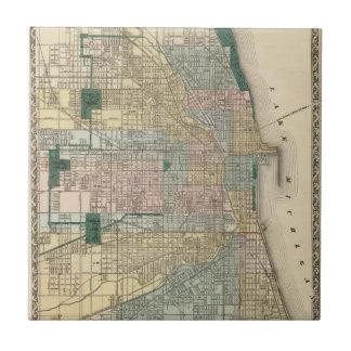 Map of Chicago City Ceramic Tile