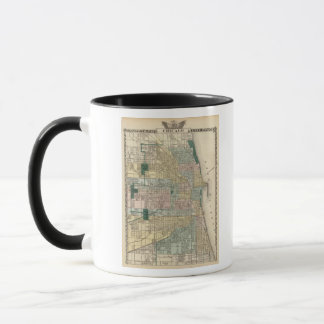 Map of Chicago City Mug