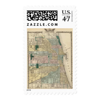 Map of Chicago City Postage