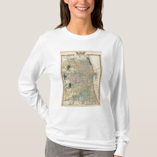Map of Chicago City T-Shirt