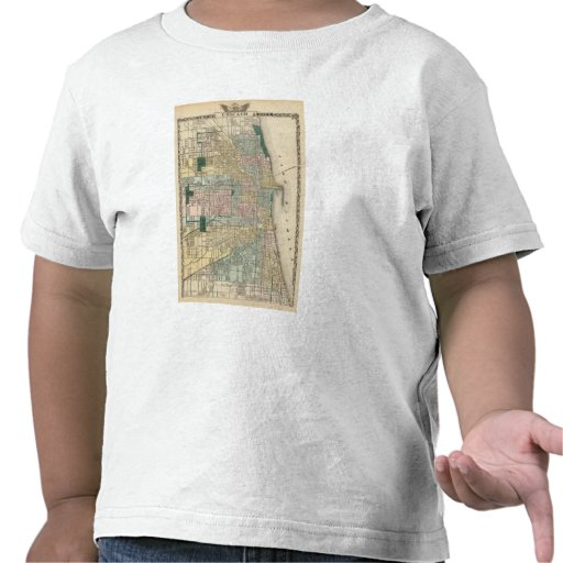 Map of Chicago City T-shirts