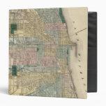 Map of Chicago City Vinyl Binder