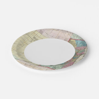 Map of Chicago Paper Plate