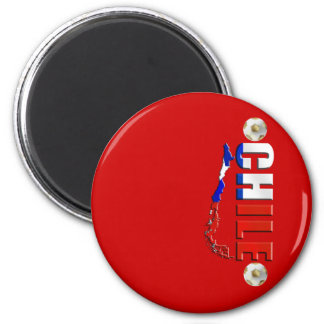 Map of Chile 2010 Chilean flag and soccer ball art Refrigerator Magnet