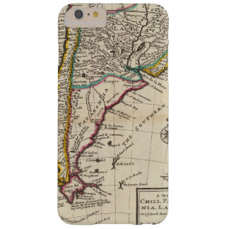 Map of Chili, Patagonia, La Plata Barely There iPhone 6 Plus Case