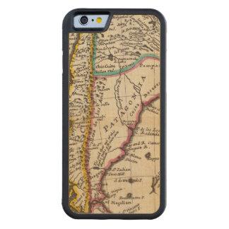 Map of Chili, Patagonia, La Plata Carved Maple iPhone 6 Bumper Case