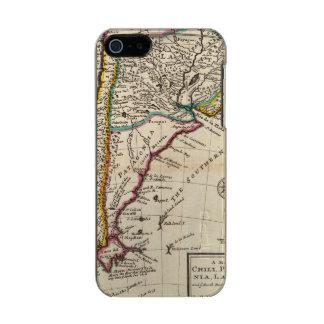 Map of Chili, Patagonia, La Plata Metallic Phone Case For iPhone SE/5/5s