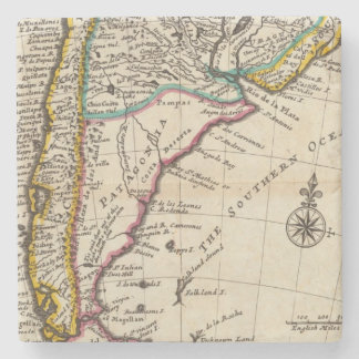 Map of Chili, Patagonia, La Plata Stone Coaster