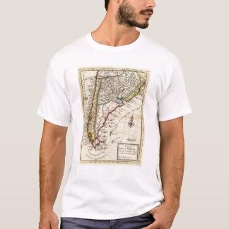 Map of Chili, Patagonia, La Plata T-Shirt