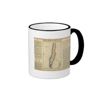 Map Of Chili Ringer Coffee Mug