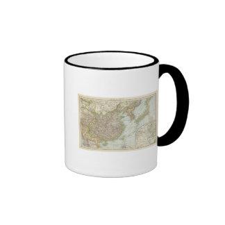 Map of China and Japan Ringer Coffee Mug