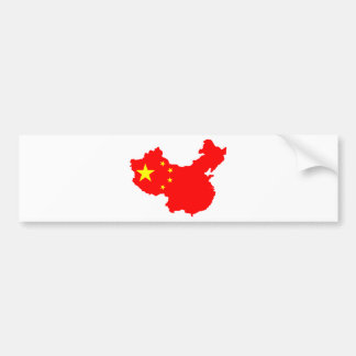 Map of China Bumper Sticker