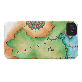 Map of China Case-Mate iPhone 4 Case