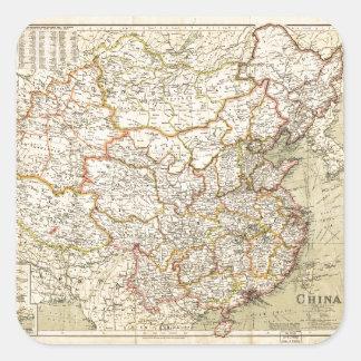 Map of China (circa 1900) Square Sticker