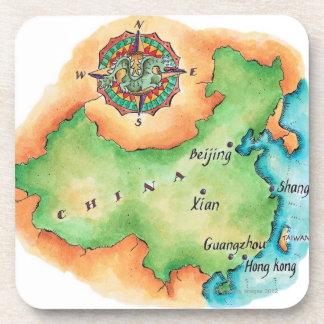 Map of China Drink Coaster