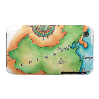 Map of China iPhone 3 Case-Mate Case
