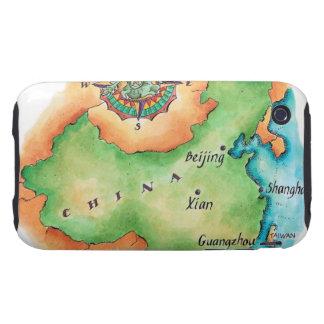 Map of China iPhone 3 Tough Case