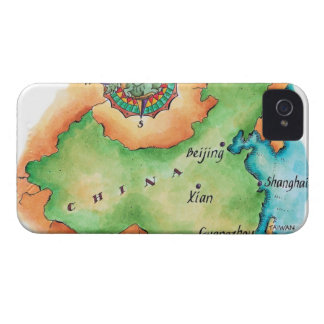 Map of China iPhone 4 Cover