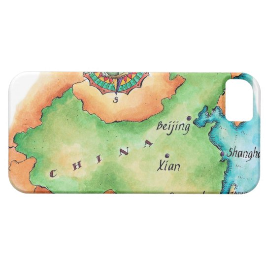Map of China iPhone SE/5/5s Case