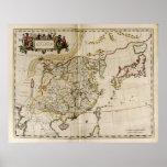 Map of China, Japan & Korea circa 1655 Poster