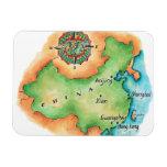 Map of China Rectangular Photo Magnet