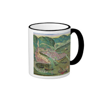 Map of Chios, from 'Civitates Orbis Terrarum' by G Ringer Coffee Mug