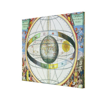 Map of Christian Constellations, from 'The Celesti Gallery Wrap Canvas