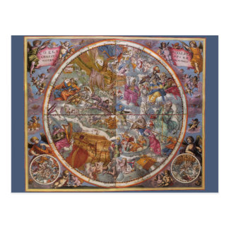Map of Christian Constellations, Southern Skies Postcard