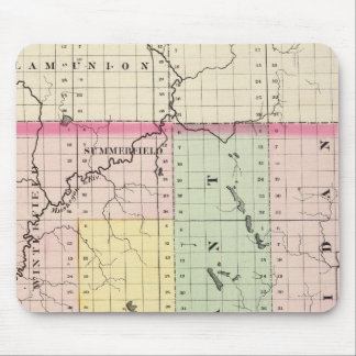 Map of Clare County, Michigan Mouse Pad