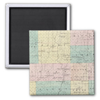 Map of Clark County, State of Wisconsin 2 Inch Square Magnet
