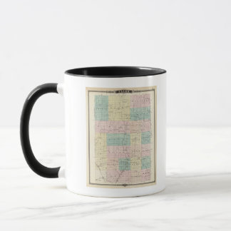 Map of Clark County, State of Wisconsin Mug