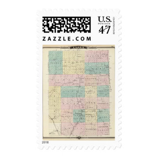 Map of Clark County, State of Wisconsin Postage
