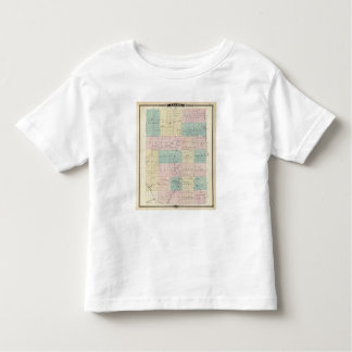 Map of Clark County, State of Wisconsin Toddler T-shirt