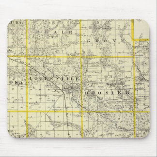 Map of Clay County, Flora and Louisville Mouse Pad