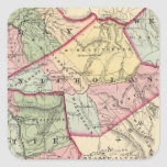 Map of Clay, Webster, Nicholas, Fayette counties Square Sticker